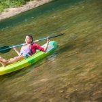 descenso en canoa k1, en el rio sella